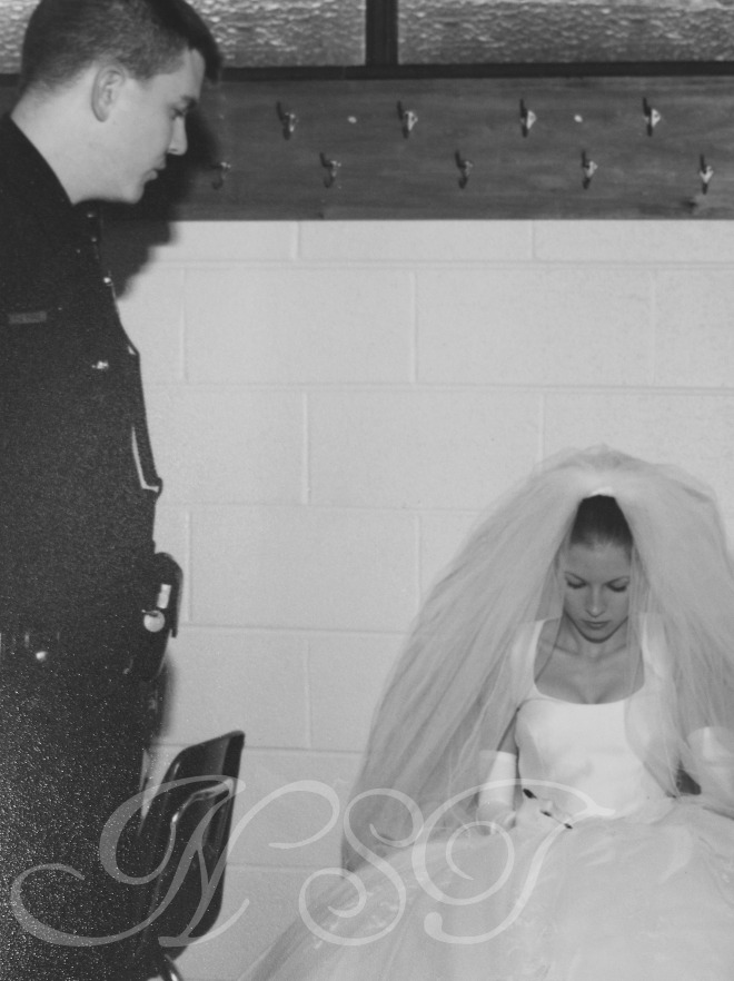 Me & the Cop Wedding Day B&W NST